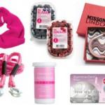 Rosa produkter som bidrar till cancerforskning
