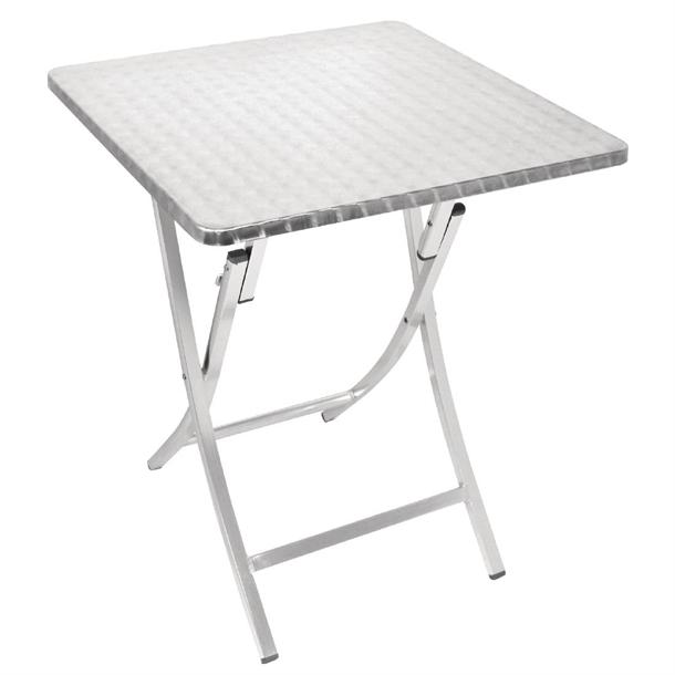 table bistro carree pliante aluminium bolero 600mm