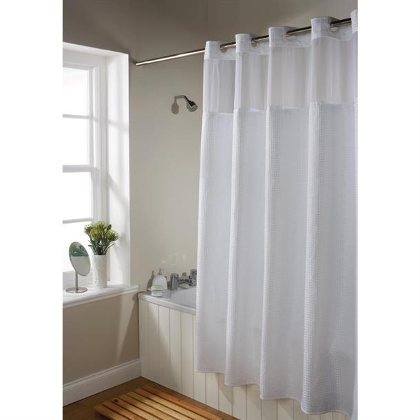 mitre luxury waffle shower curtain
