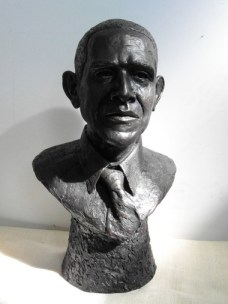 The bronze Obama bust