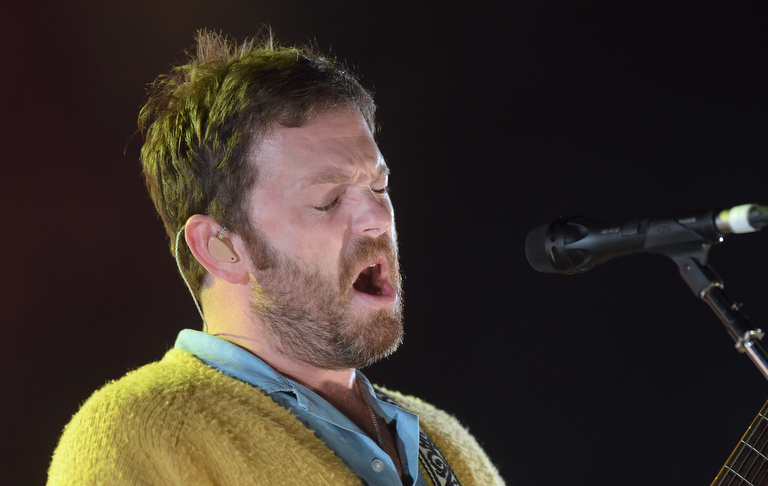 Kings of Leon lead singer Caleb Followill performs May 20, 2017, at PNC Bank Arts Center in Holmdel, New Jersey. Deerhunter opened the show. (Matt Smith   For NJ Advance Media)