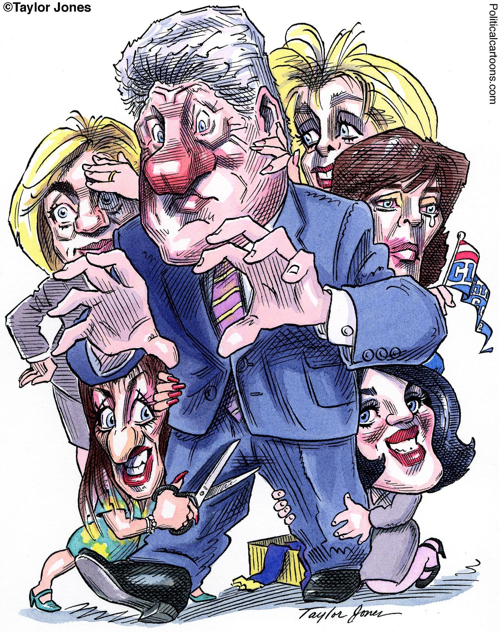 Image result for image of caricature of CLinton being given oral sex
