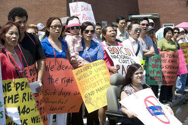 Workers rally in Kearny call for boycott of Pactiv/Reynolds