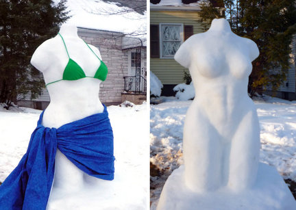 Oh noes! There is a naked lady in the snow!