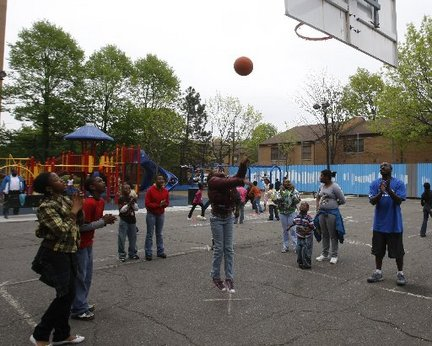 Newark Star-Ledger file photo of kids at recess at Newton Street School. Patti Sapone photo