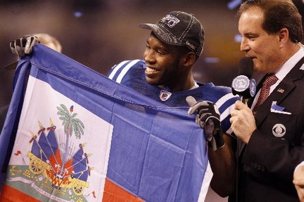 Pierre Garcon and the Haitian Flag