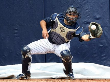Jesus Montero Yankees catcher spring training