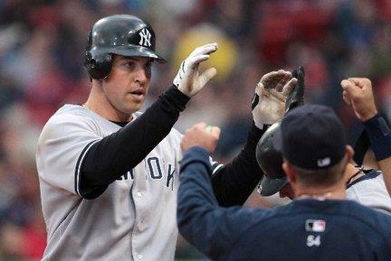 Mark Teixeira home run congratulations Yankees Red Sox