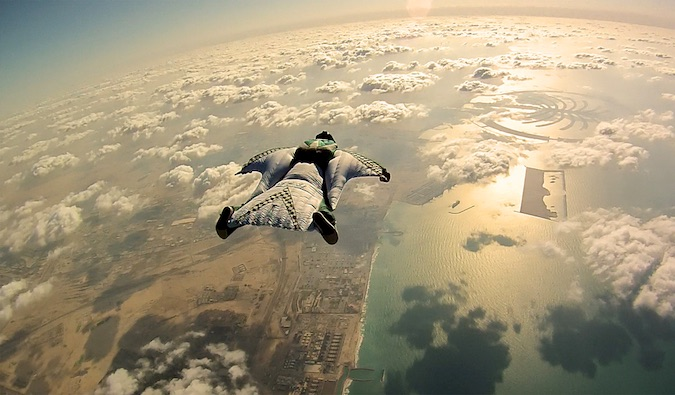 daring travel sky dive