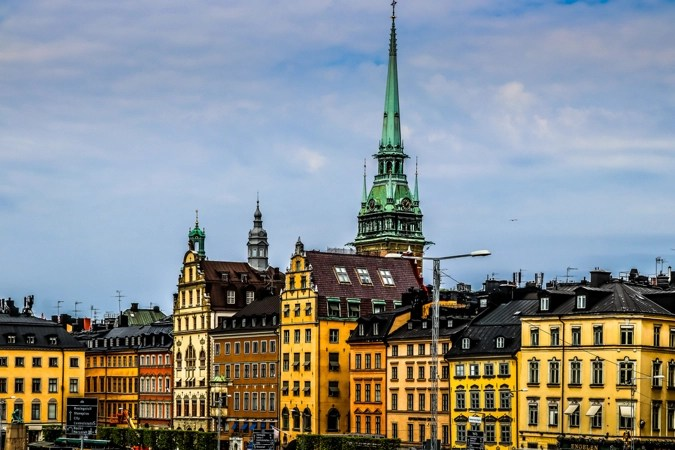 The colorful and historic buildings of Stockholm's Gamla Stan neighborhood