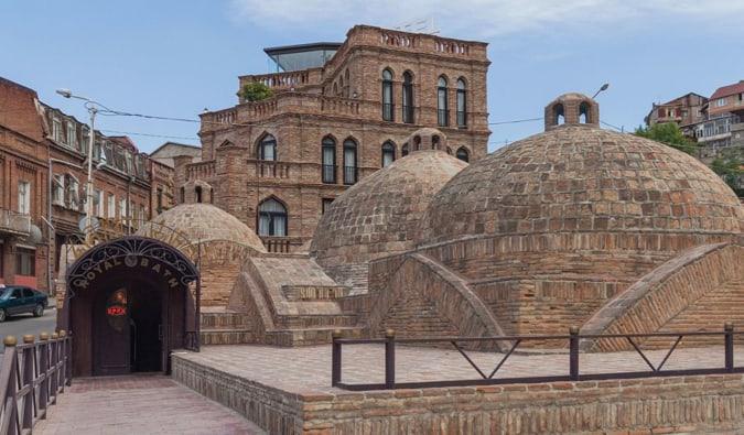 The old brick dome sulphur baths in Tbilisi, Georgia