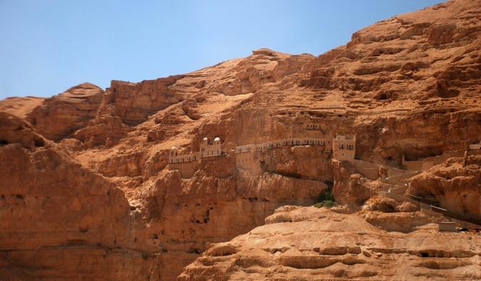 The ancient monastery near Jericho, Israel