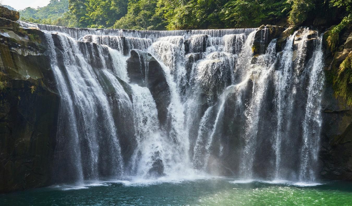The beautiful Shifen waterfall near Taipei, Taiwan
