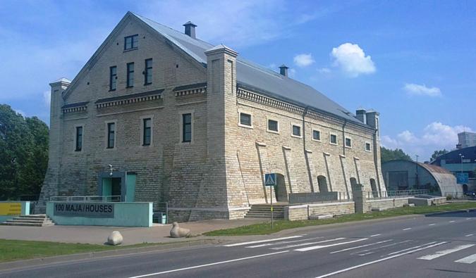 The architecture museum in the historic Roterman Salt Storage building in Tallinn, Estonia