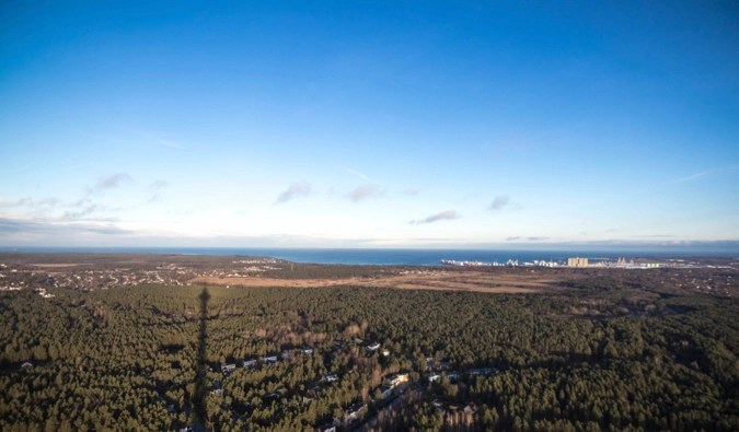 The view from the TV tower in Tallinn, Estonia