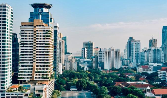 The skyline of Bangkok, Thailand