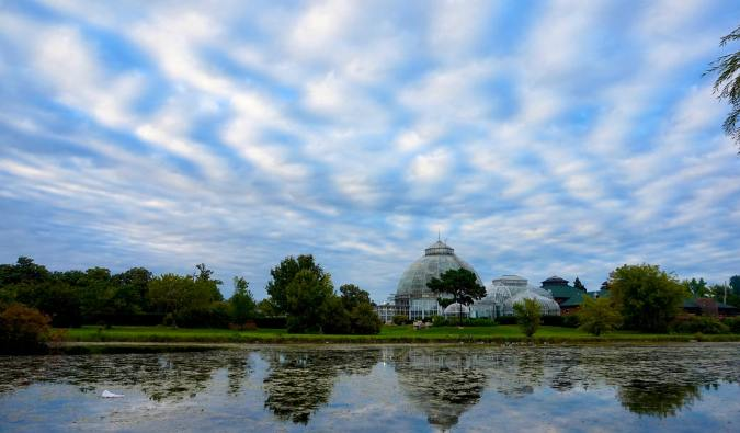 The conservatory on Belle Island near Detroit, Michigan