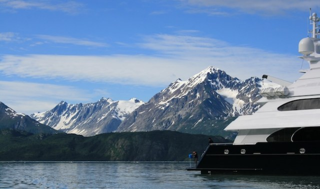 arielle yacht boat docked in alaska