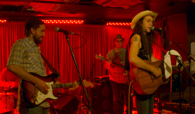 Performers playing at The White Horse in Austin