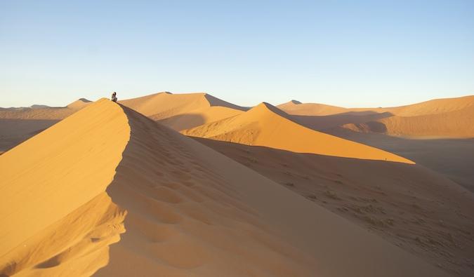The desert in Sossusvlei, Namibia