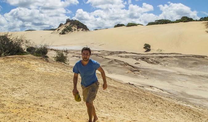 Brook Silva-Braga in the desert
