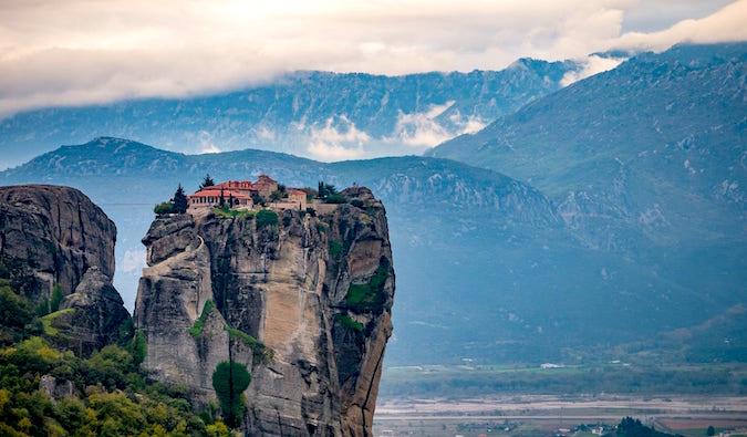 Meteora monastery by Laurence Norah