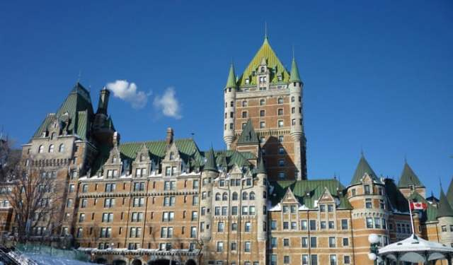 a picture of the chateau in Quebec City