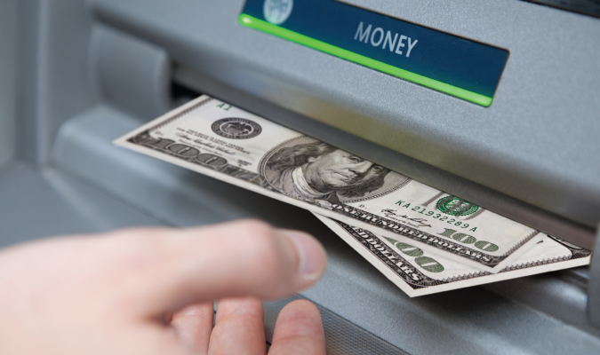 taking money from an atm