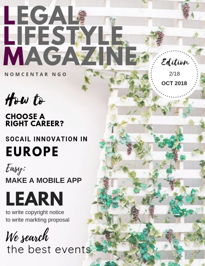 PHOTO LEGAL LIFESTYLE MAGAZINE NOMCENTAR OCT 2018