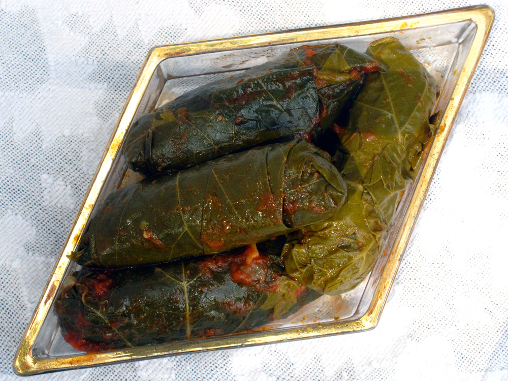 Stuffed Grape Leaves (Yebrat)