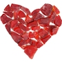 Heart made of broken glass