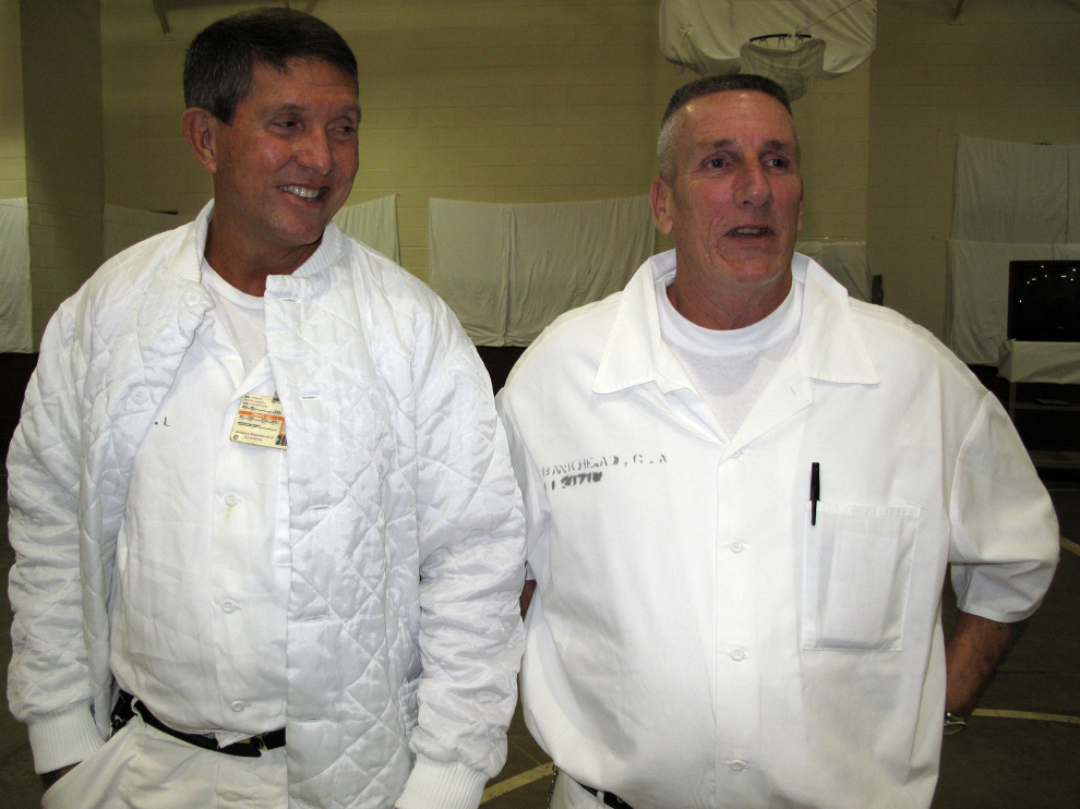 "Rick Smith (left) and Grady Bankhead, who participated in the meditation program, are serving sentences of life without parole for capital murder. ""We have to have some kind of balance back in our lives from the horrible things that we've done,"" Bankhead says."