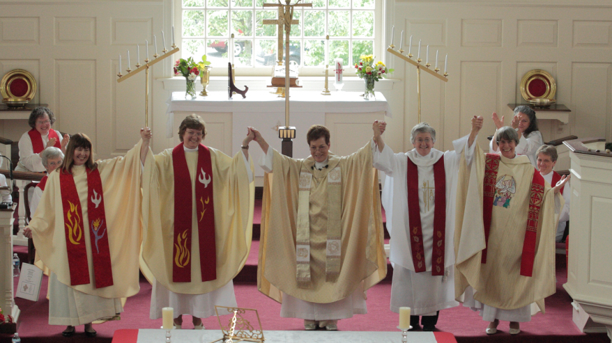Roman Catholic Women Priests on their ordination day, June 4th at St. John's United Christ Church of Christ in Catonsville, MD.