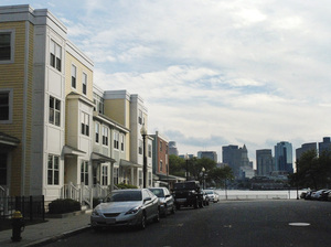 Some residents in this waterside housing development in East Boston say they would like more guidance from the city on how to plan for future flooding.