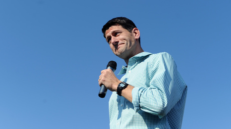 Rep. Paul Ryan of Wisconsin, seen at a weekend rally in Powell, Ohio, is set to formally accept the GOP nomination to become Mitt Romney's running mate.