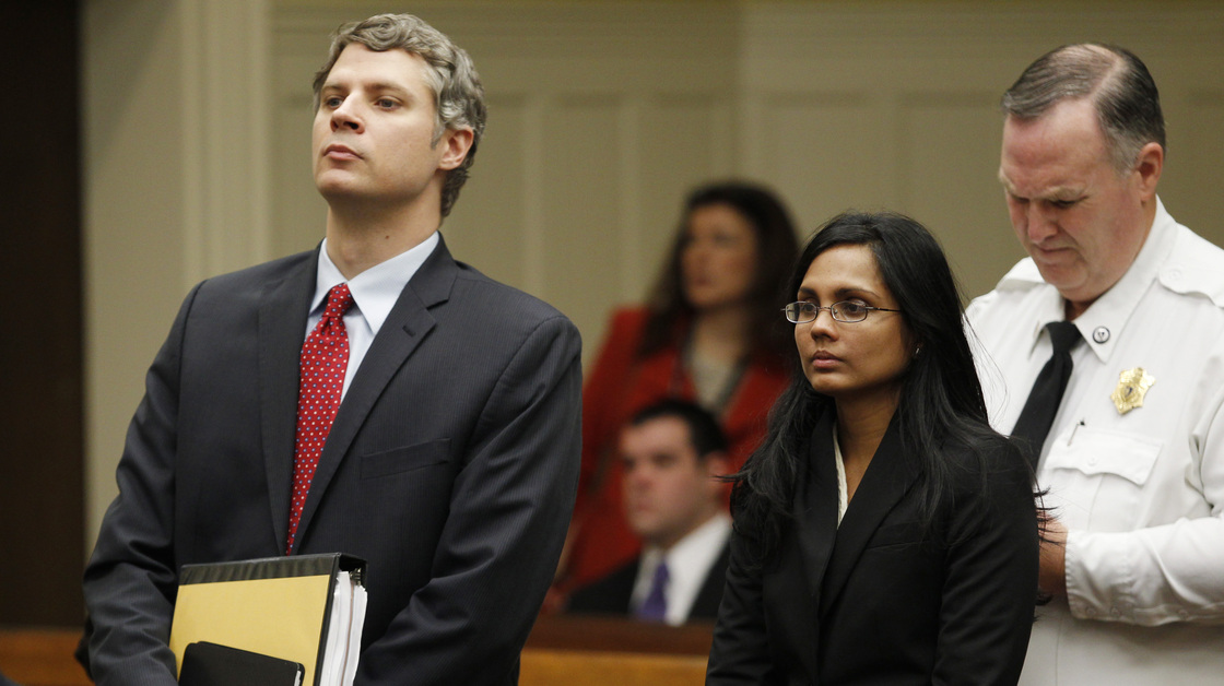 Annie Dhookan (right), a former Massachusetts crime lab chemist, is accused of falsifying evidence in more than 30,000 cases. The state's criminal justice system is now reeling as former defendants are challenging their convictions and hundreds have already been released.