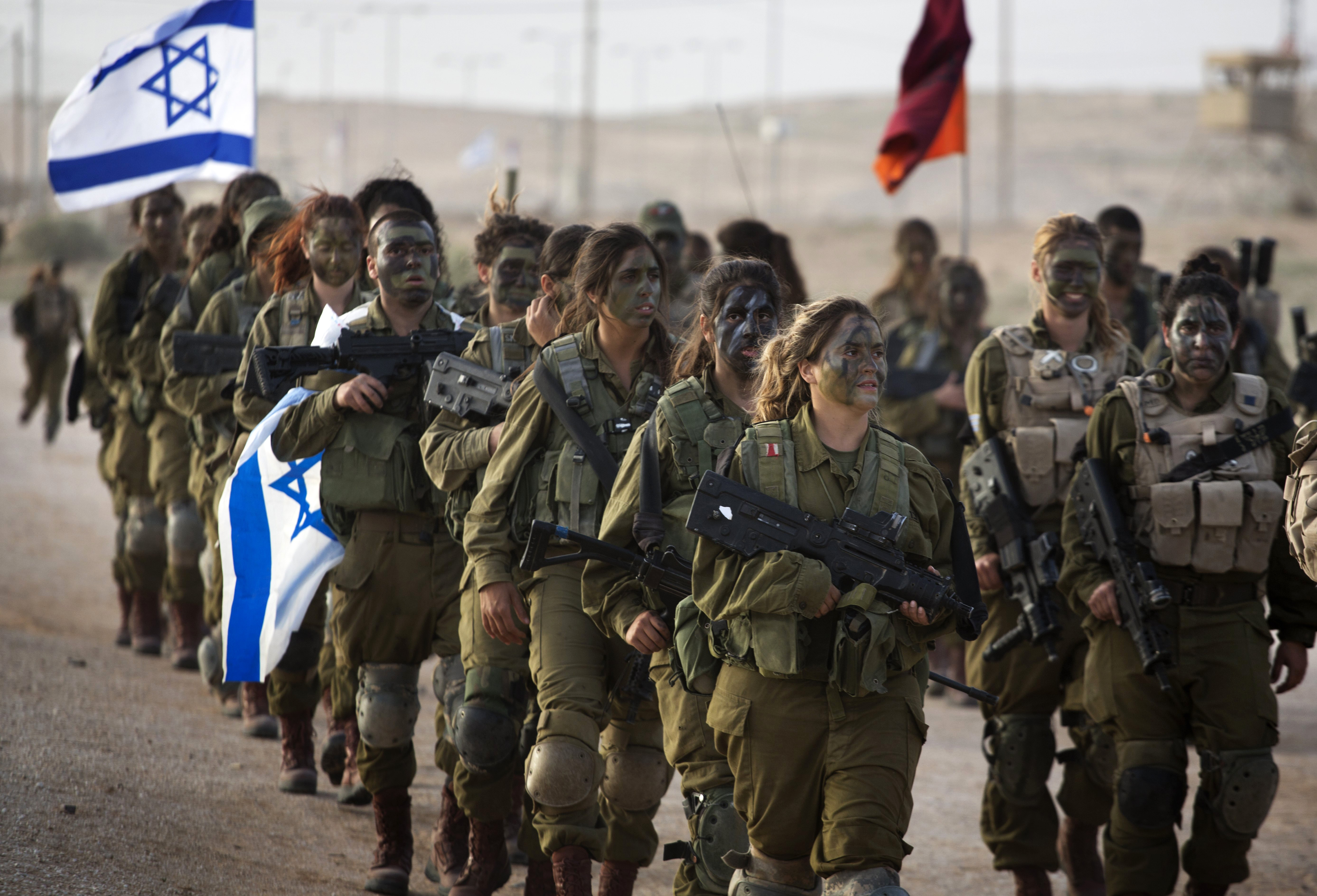 in israel, all young people of a certain age, male or female, are drafted in to mandatory military service