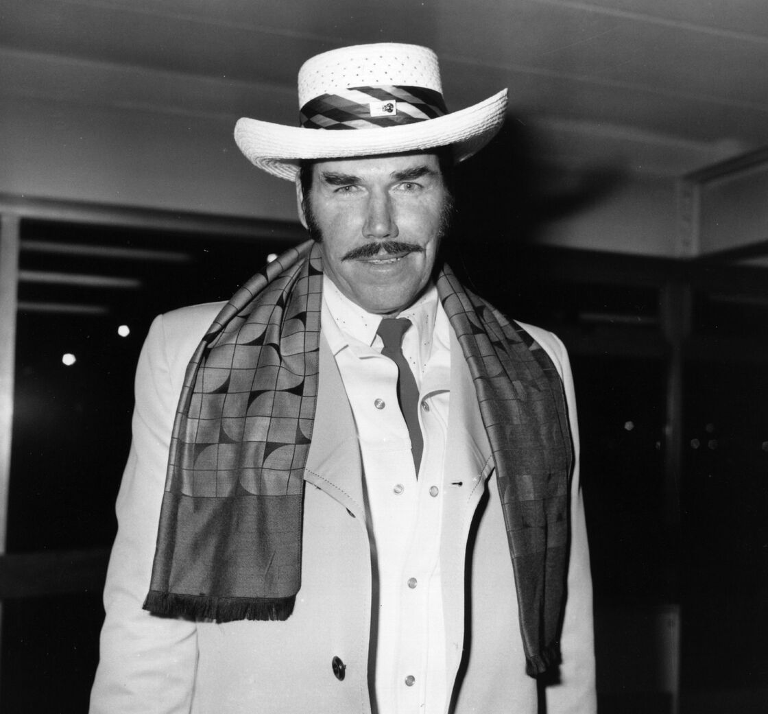 Slim Whitman arriving at Heathrow Airport in 1976.