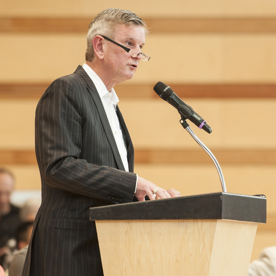 Aspen Music Festival president and CEO Alan Fletcher gave his annual convocation address June 24.
