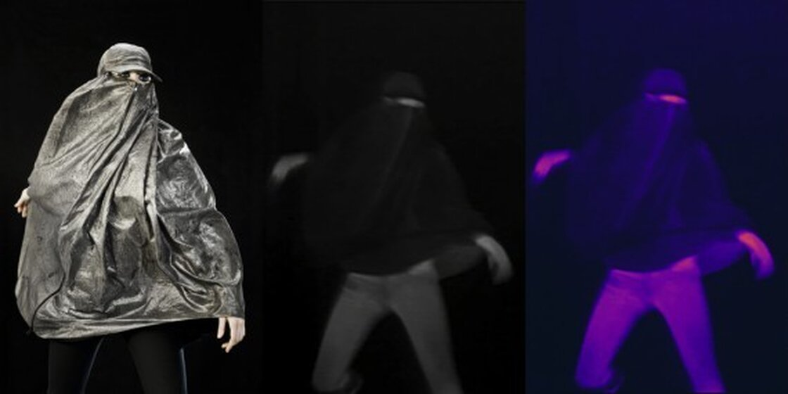The 'Anti-Drone' burqa protects against thermal imaging surveillance from drones.