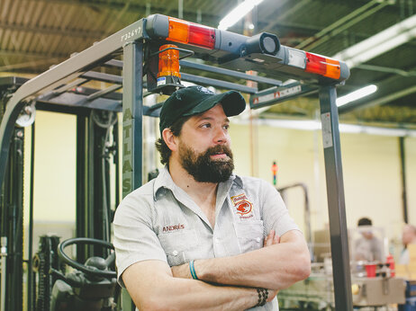 """Andres Araya owns the 5 Rabbit Cerveceria in Chicago. He says """"homebrewing doesn't really exist in Latin America."""""""