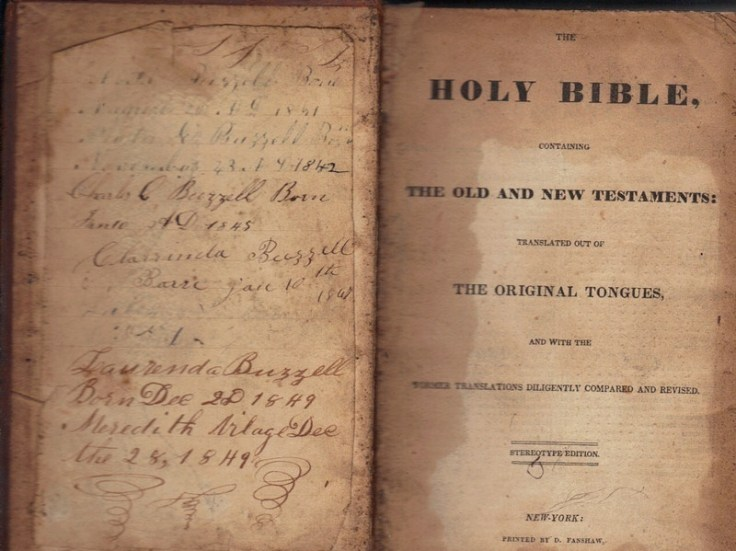 Joy Shivar matches items like this 1830s Bible with the relatives of its original owners.