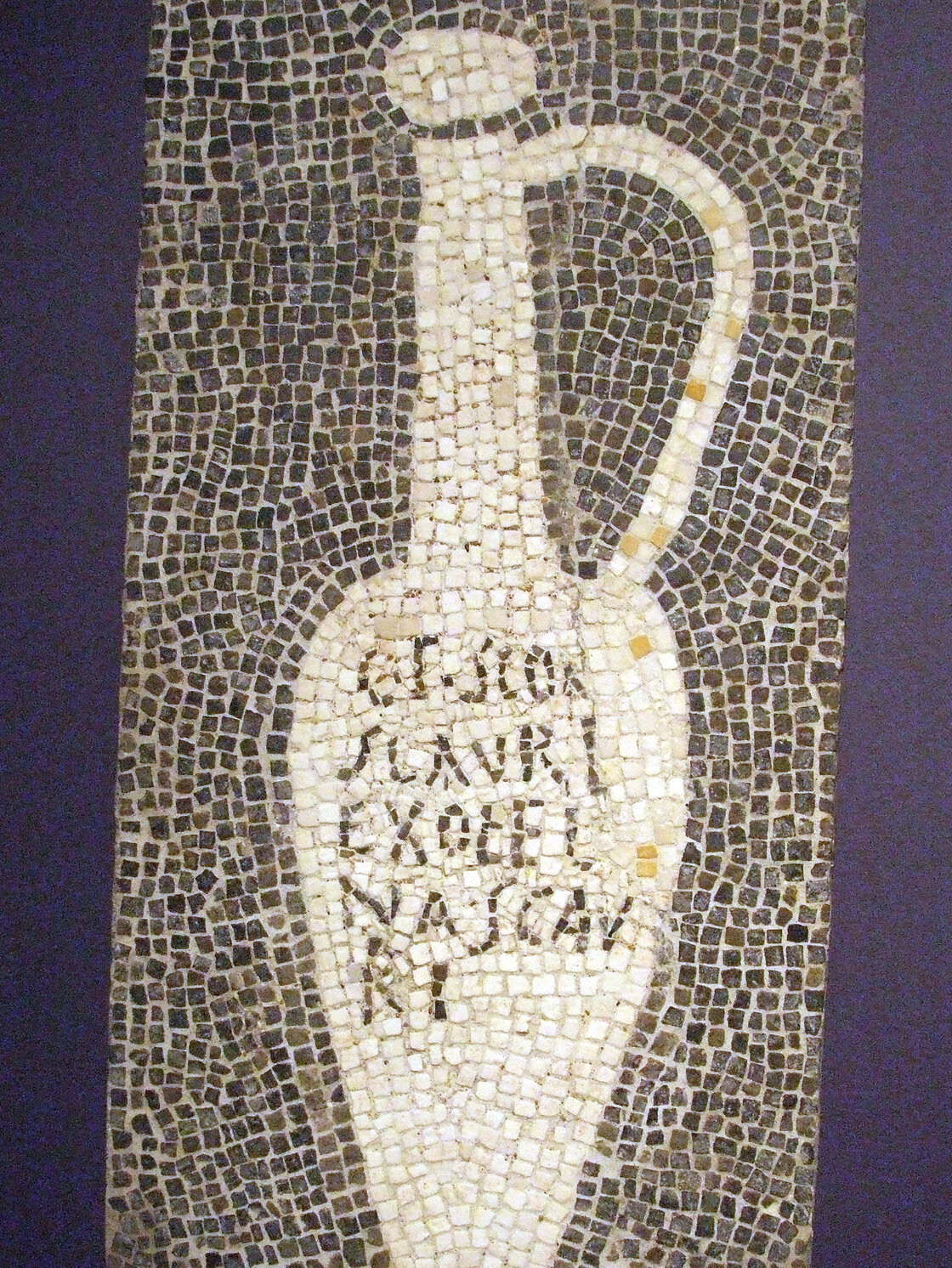 Fish sauce was a staple in Ancient Roman cooking. This mosaic, from Pompeii, would have decorated the floor of a garum shop.