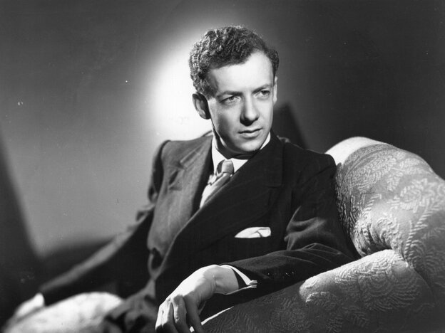 A portrait of the composer Benjamin Britten from 1948.