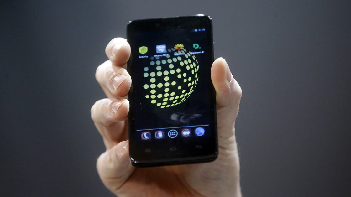 The Blackphone, an Android software-based mobile encrypts texts, voice calls and video chats.