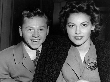Mickey Rooney and wife Ava Gardner in January 1942.