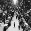 The pushcart market in the East Side Ghetto of New York's Jewish Quarter was a hive of activity in the early 1900s.