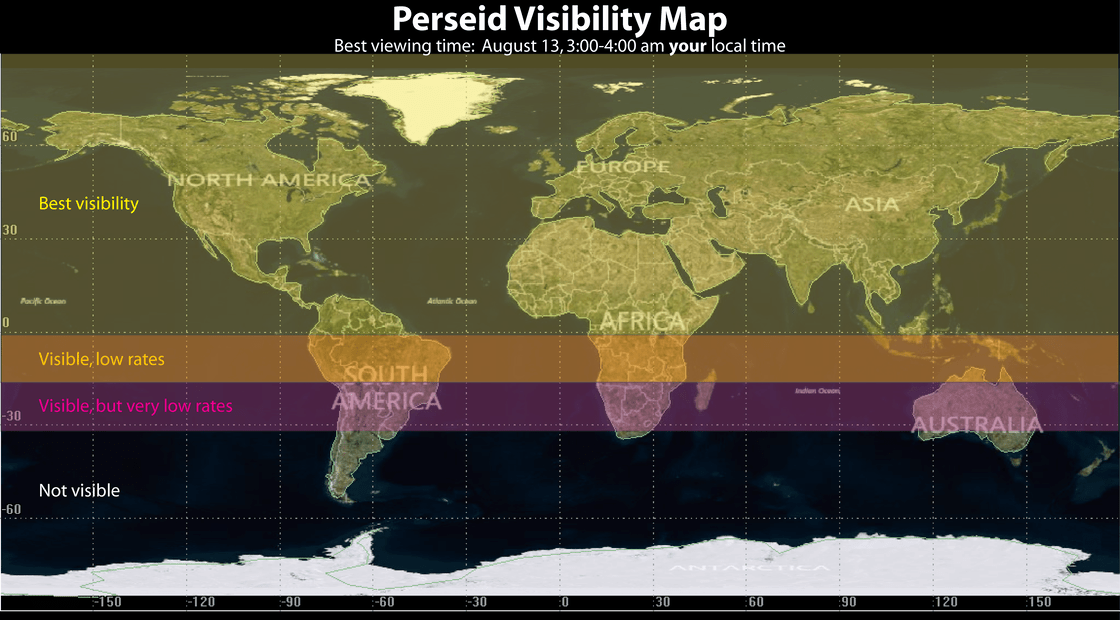The best places to watch the Perseid meteor shower for 2014.