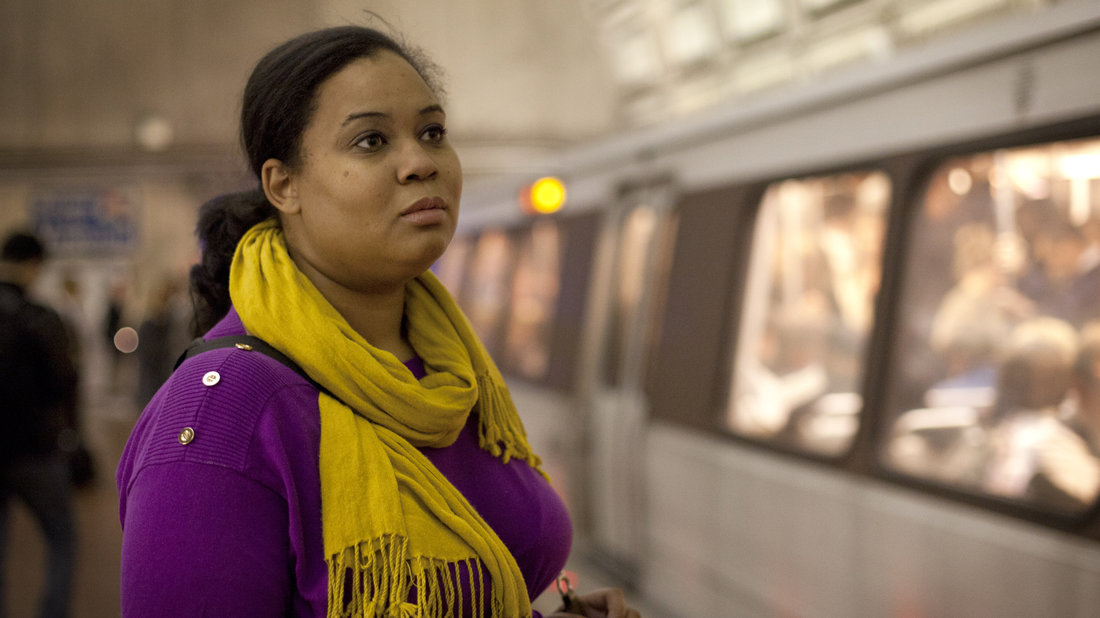 Noelle Johnson has a lengthy commute via bus and metro to her job near Washington, D.C. She's been working toward her B.A. for nine years, and when she finally finishes, she says, she'll be able to afford to live closer to work.