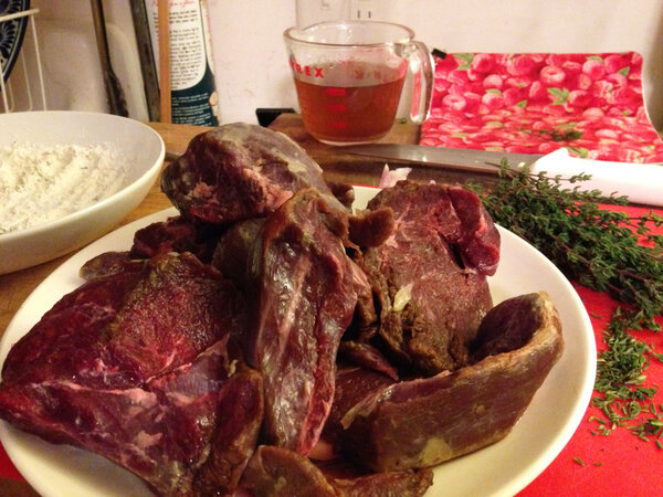 The author had no trouble sourcing bear meat in upstate New York; a colleague had some in her freezer.